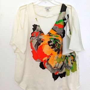 Kenneth Cole New York bright flowered top